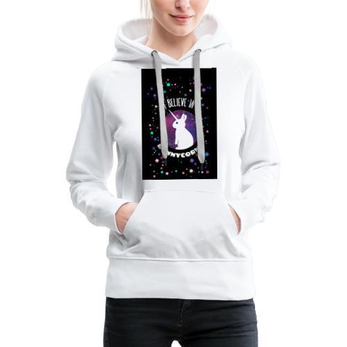 I believe in bunnycorns Einhorn Hasen Kaninchen - Frauen Premium Hoodie