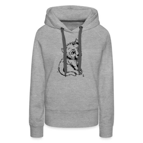 Louvetau - Sweat-shirt à capuche Premium pour femmes