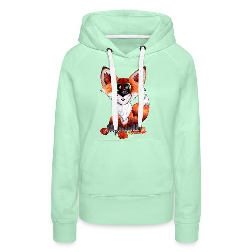llwynogyn - a little red fox - Naisten premium-huppari