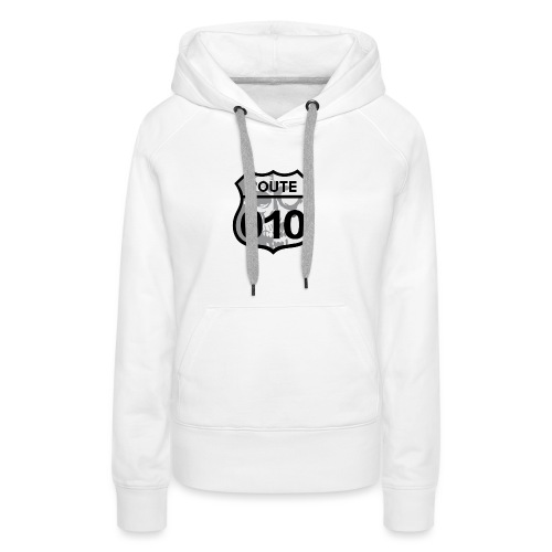 ROUTE-O10-skull-rugpatch-2-png - Vrouwen Premium hoodie