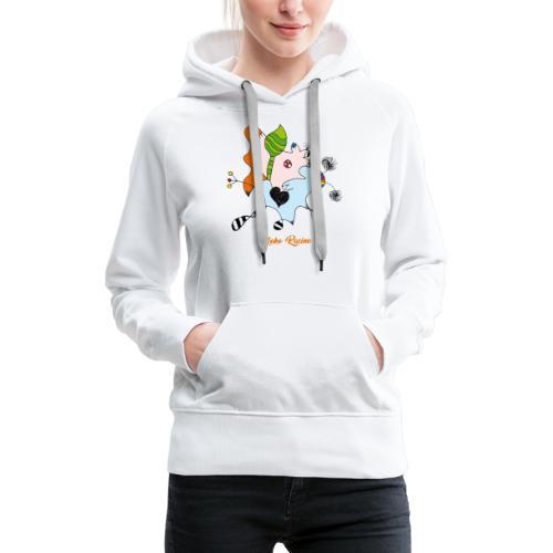 Moko Racine - Sweat-shirt à capuche Premium pour femmes
