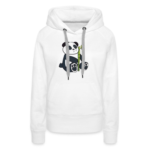 Oso Panda con Bamboo - Sudadera con capucha premium para mujer