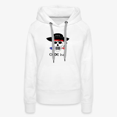 Code Bar couleur - Sweat-shirt à capuche Premium pour femmes