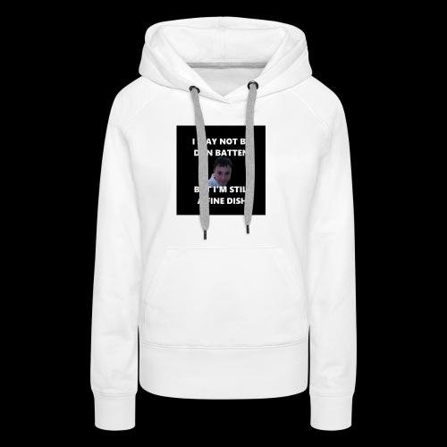 DanFineDishShirtSmall png - Women's Premium Hoodie