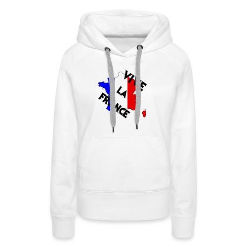 Vive la France - Sweat-shirt à capuche Premium pour femmes