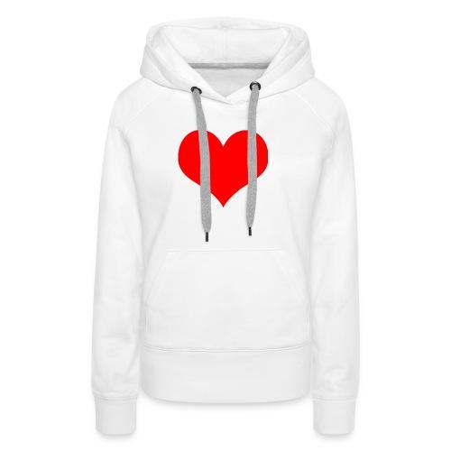 rotes Herz - Frauen Premium Hoodie