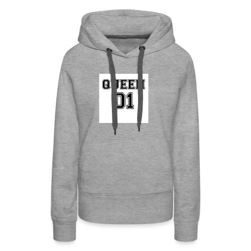 Queen 01 - Sweat-shirt à capuche Premium pour femmes