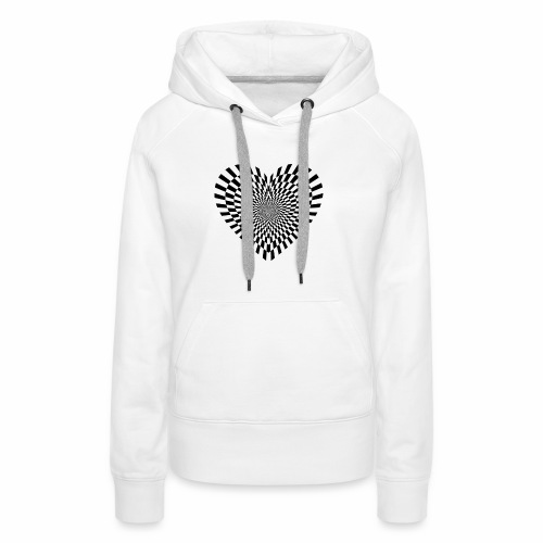 illusion heart - Women's Premium Hoodie