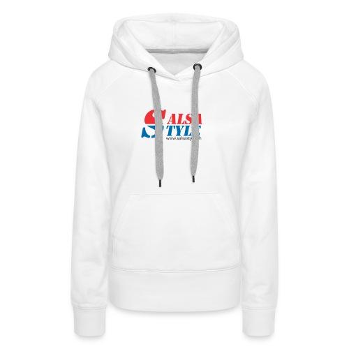 logo salsa style - PNG - Sweat-shirt à capuche Premium pour femmes