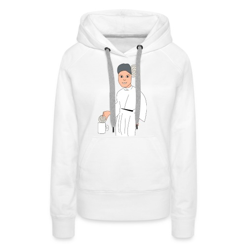 princesa leia - Sudadera con capucha premium para mujer