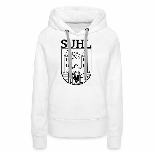 Suhl Coat of Arms (black) - Women's Premium Hoodie