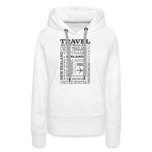 Travel Places Gray design - Naisten premium-huppari