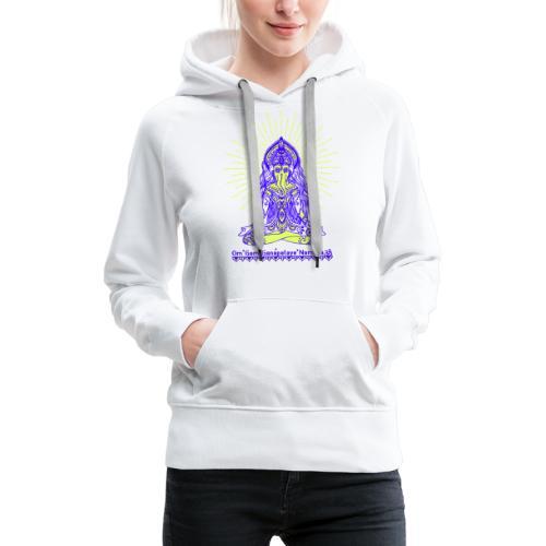 Yogafashion Hippie Ganesha dein Glücksgott - Frauen Premium Hoodie