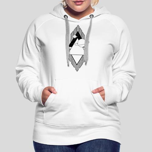 Universum - Black and White - Frauen Premium Hoodie