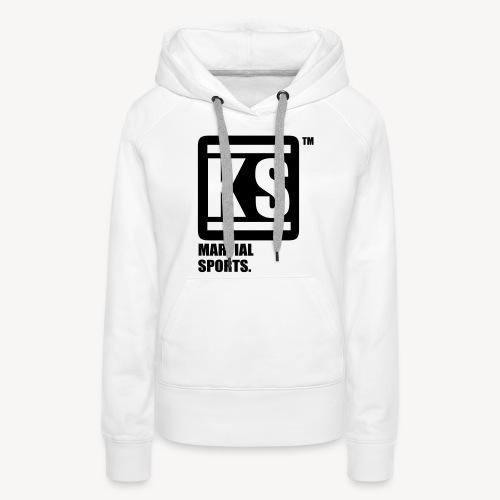 ks martial sport - Sweat-shirt à capuche Premium pour femmes