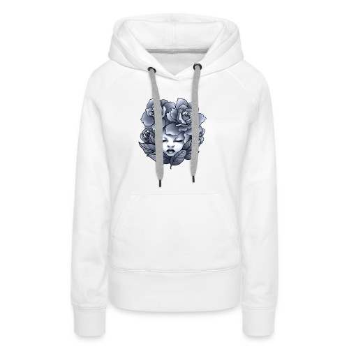 Flower Head - Sweat-shirt à capuche Premium pour femmes