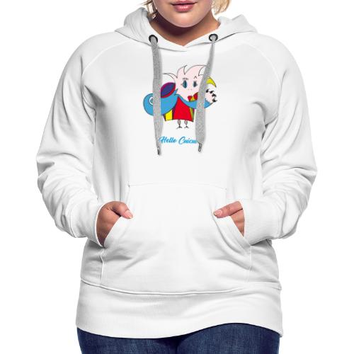 Hello Cuicui - Sweat-shirt à capuche Premium pour femmes
