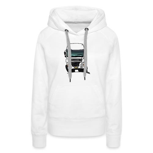 0810 D truck CF wit - Vrouwen Premium hoodie