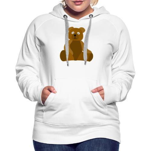 nounours - Sweat-shirt à capuche Premium pour femmes