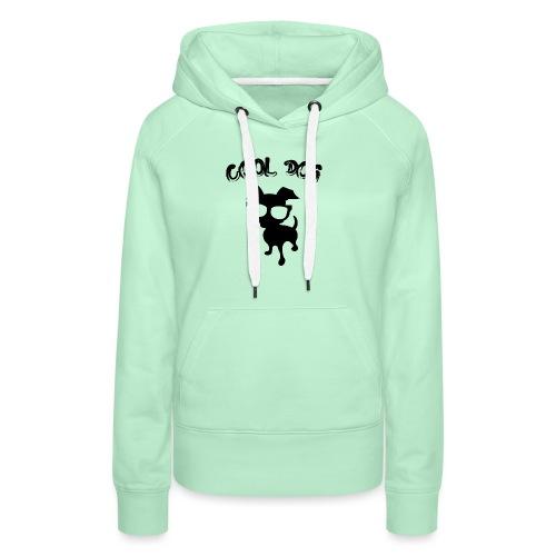 COOL DOG - 2 - Felpa con cappuccio premium da donna