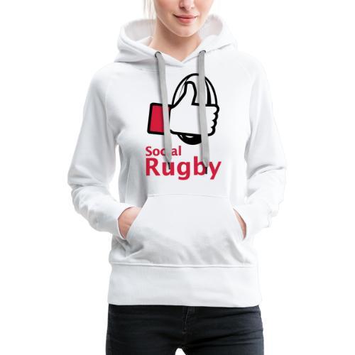 social rugby - Sweat-shirt à capuche Premium pour femmes