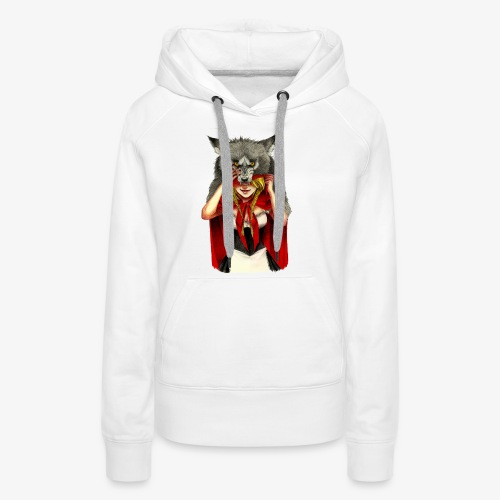 Little Red Riding Hood - Sudadera con capucha premium para mujer