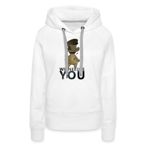 WE NEEDLE YOU - Sweat-shirt à capuche Premium pour femmes
