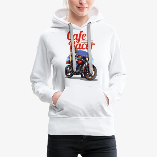 Cafe Racer - Sweat-shirt à capuche Premium pour femmes