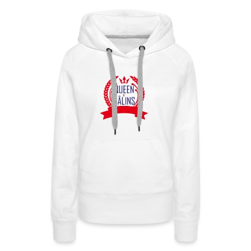 Queen of câlins wcol - Sweat-shirt à capuche Premium pour femmes