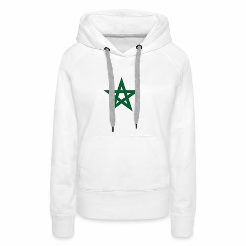 star marocaine - Sweat-shirt à capuche Premium pour femmes