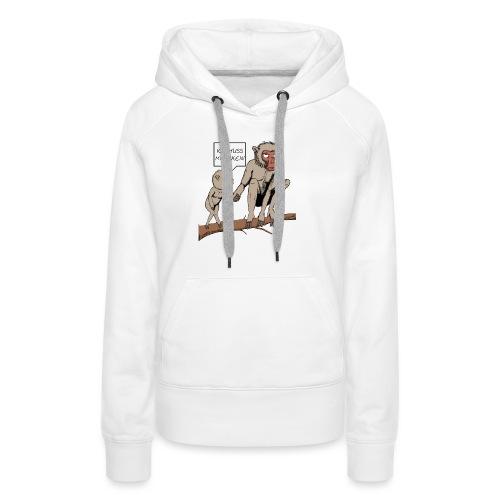 Halts Maul Mike - Makaken - Frauen Premium Hoodie