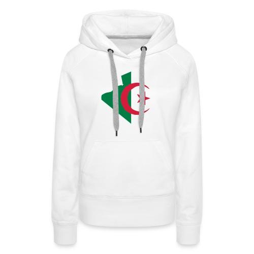vive l'Algérie - Sweat-shirt à capuche Premium pour femmes