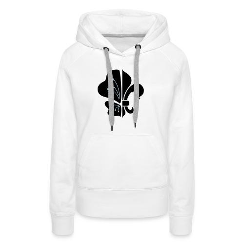logo tradi beach NB - Sweat-shirt à capuche Premium pour femmes