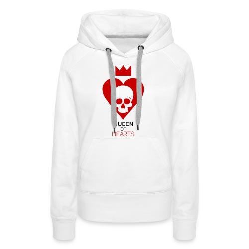 Tee shirt manches longues Reine des Coeurs - Sweat-shirt à capuche Premium pour femmes