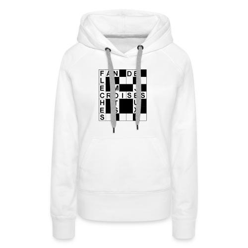 Fan de mots croisés - Sweat-shirt à capuche Premium pour femmes
