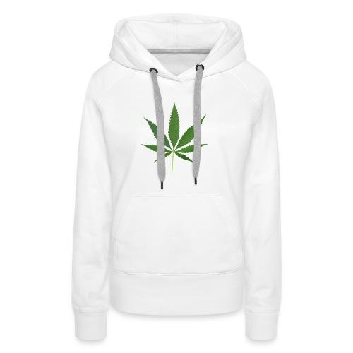 2000px-Cannabis_leaf_2 - Dame Premium hættetrøje