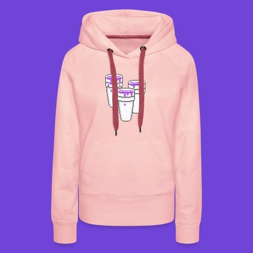 Purple - Felpa con cappuccio premium da donna