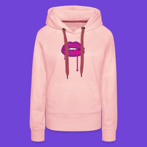 Purple Kiss - Felpa con cappuccio premium da donna