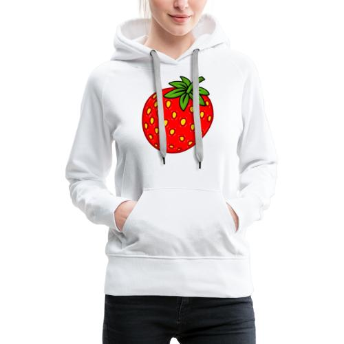 Erdbeere - Frauen Premium Hoodie