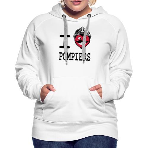 i_love_pompier_4 - Sweat-shirt à capuche Premium pour femmes