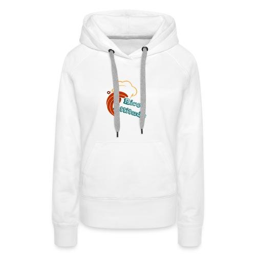 T Shirt Rice Attitude - Sweat-shirt à capuche Premium pour femmes