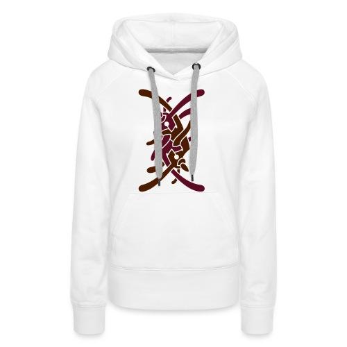 Stort logo på bryst - Dame Premium hættetrøje