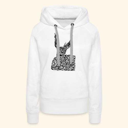 deer black and white - Naisten premium-huppari