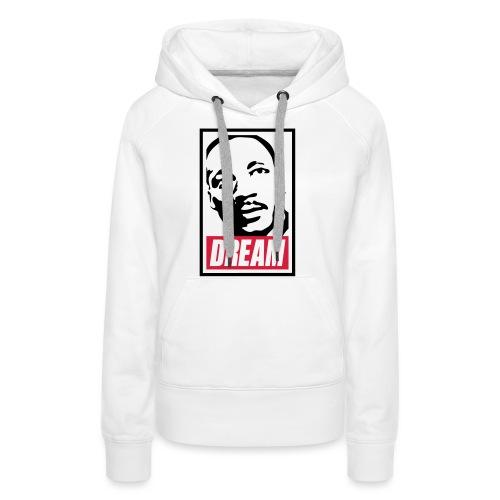 Obey x Dream MLK 2c_blanc - Sweat-shirt à capuche Premium pour femmes