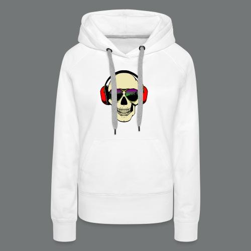 skull dj - Women's Premium Hoodie