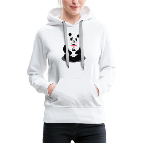 panda hd - Sweat-shirt à capuche Premium pour femmes