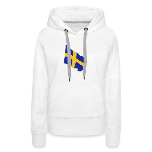 Flagge Schwedenflagge flatternd, Sweden Sverige - Frauen Premium Hoodie