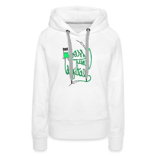 BASS JUNK DIGITAL ZIPPED HOODIE - Vrouwen Premium hoodie