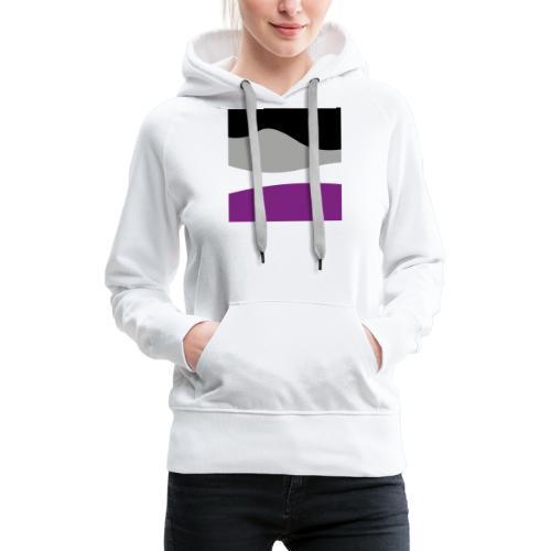 Nicht gerade Asexualität Flagge - Frauen Premium Hoodie