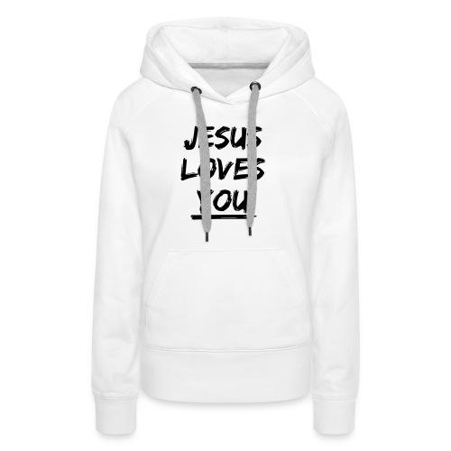 jesus-loves-you - Frauen Premium Hoodie
